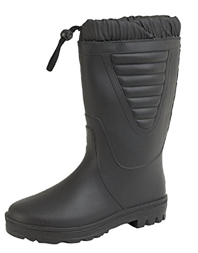 Unisex Winter Snow Boots. Faux-Fur Lined Toggle Top. Black yyja4
