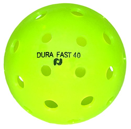 Dura Fast 40 Pickleballs | Outdoor pickleball balls | Neon | Dozen/Pack of 12 | USAPA Approved and Sanctioned for Tournament Play, Professional -