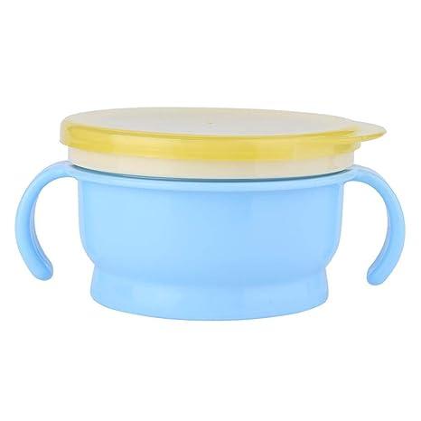 BPA Gratuito Mango Doble a Prueba De Derrames Comida Bowl Snack ...