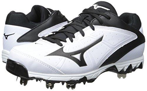 5e6ed8f45bd8 Mizuno Women's 9 Spike Swift 4 Fast Pitch Metal Softball Cleat, White/Black,