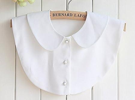 Fashion Doll cuello Vintage elegante mujer mitad Fake cuello falso blanco camisa blusa cuello desmontable media camisa (estilo 3): Amazon.es: Hogar