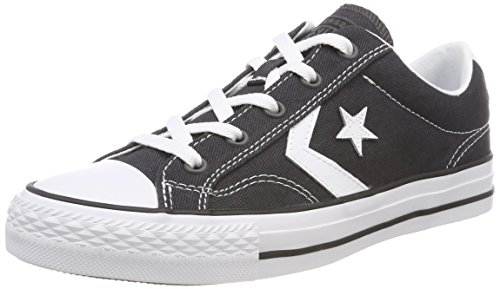 Converse Unisex Adults' Star Player Ox Almost White Trainers, Black, 7 UK Black (Almost Black/White/Black 049)