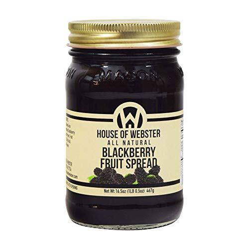 House of Webster Blackberry Fruit Spread - No Added Refined Sugar - 16.5 - Spreads Sugar Added Fruit