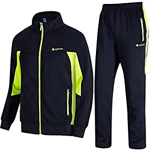TBMPOY Men's Tracksuit Athletic Sports Casual Full Zip Sweatsuit 23