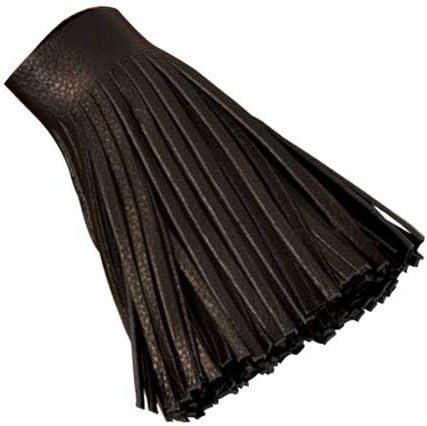 Black 5035-51 102 x 914 mm Tandy Leather Deertan Fringe 4 x 36