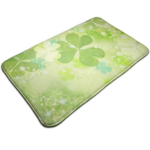 (Homlife Fashion Doormat Entrance Floor Rug Shamrock Means Love Health Glory Non-Slip Flannel Indoor Mat for Bedroom Living Room Home Decorative)