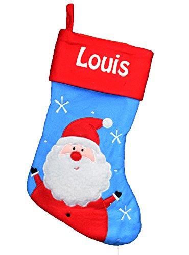 Chaussette de Noël à personnaliser motif Pére Noël chaussette Bleu