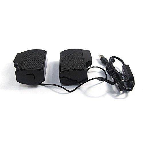 Teepao Portable Mini Clip On Powered Stereo Speaker, USB 3 5 mm