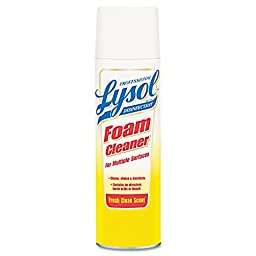 Professional LYSOL Brand 36241-02775 Disinfectant Foam Cleaner, 24 oz. Aerosol (Pack of 12)