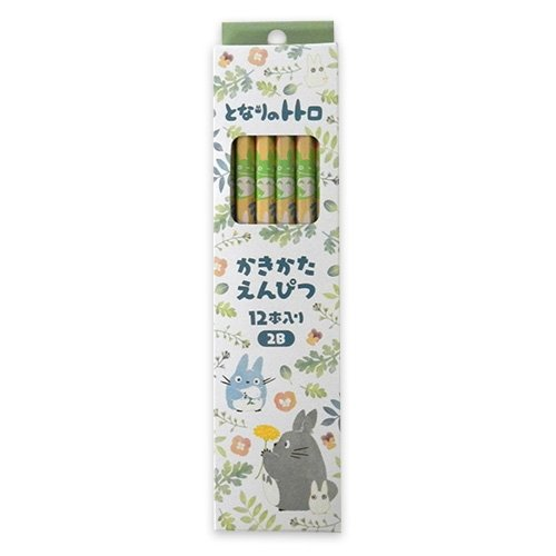 Book Character Costumes Adults Uk (Ghibli My Neighbor Totoro colorful leaf pattern writing pencils 12 bottles 2B From Japan New)