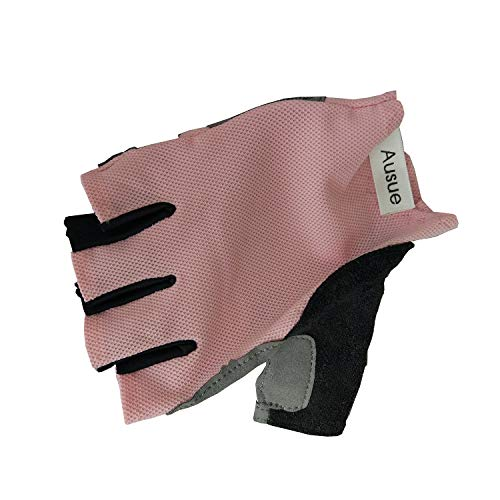 Price comparison product image Ausue Fitness gloves,  women,  semi finger yoga,  breathable,  skid resistant,  wearable,  dynamic,  cycling,  exercise,  thin sports gloves.