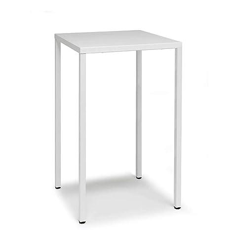 Scab Design Summer mesa alta 110 cm de 70x70 cm blanca ...