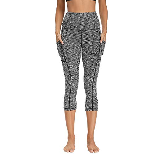 High Waist Yoga Pants with Pockets for Women - Soft Tummy Control 4 Way Stretch Leggings for Workout Running