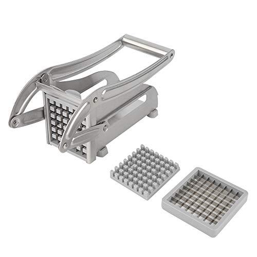 Roestvrijstalen fritessnijder, commerciële groente- en aardappelsnijmachine, inclusief snijmachine met 2 mesafmetingen…
