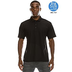 JC DISTRO Men's Active Breathable Moisture Wicking Dri-Fit Polo Shirts