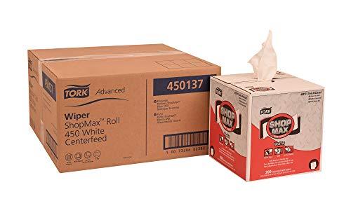 Tork 450137 Advanced ShopMax Wiper 450, Centerfeed, 1-Ply, 9.0