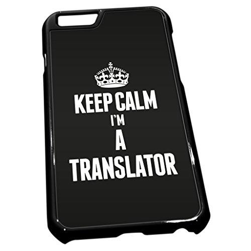 Schwarz Cover für iPhone 62697schwarz Keep Calm I 'm a Übersetzer