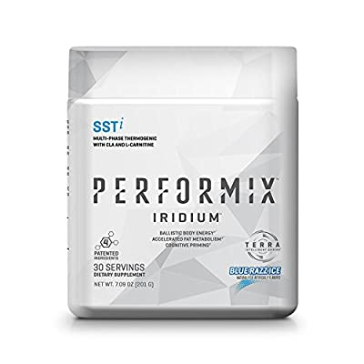 PERFORMIX IRIDIUM SSTi Multi-Phase Thermogenic with CLA and L-Carnitine - 30 Servings Blue Razz Ice