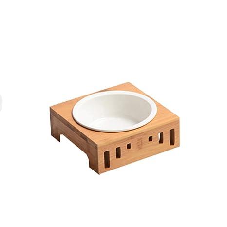 AosyGFR Cat Bowl Dog Bowl Cat Supplies Tazón De Fuente De Cerámica De Arroz Tazón Doble ...