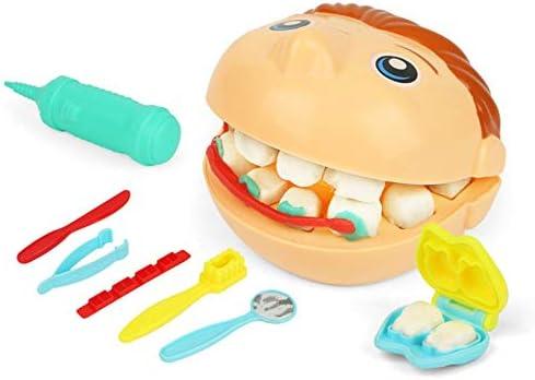 ArgoBa Juegos de Dentista Tirantes manuales Moldes Plastilina Colores Niños Casa Rompecabezas Doctor Juguete Dentista Juego Interactivo