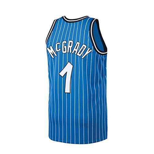 (Plkhey Mens McGrady Jersey Orlando Tracy #1 Basketball Adult Retro Sizes Blue (Blue,)