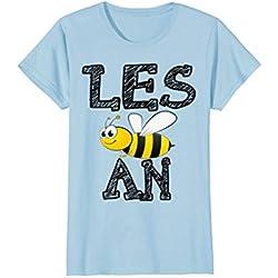 Womens Lesbian Bee Honest T Shirt XL Baby Blue