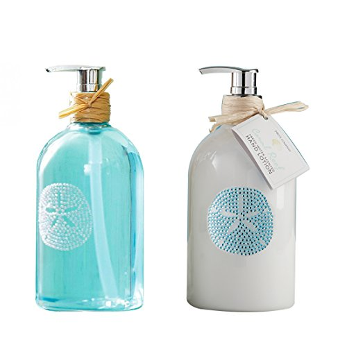 Two's Company Sea Life Hand Soap and Coral Reef Hand Lotion (Soap Set Of Two)