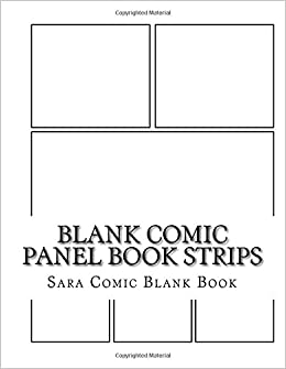 Blank Comic Panel Book Strips: Templates, 6 panel layouts 8.5 x 11 ...