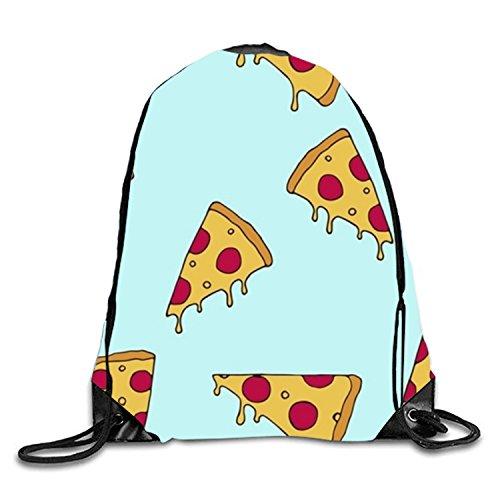 3D Print Drawstring Backpack Rucksack Shoulder Bags Gym Bag Lightweight Travel Backpack The 'Fyre Festival Of Pizza