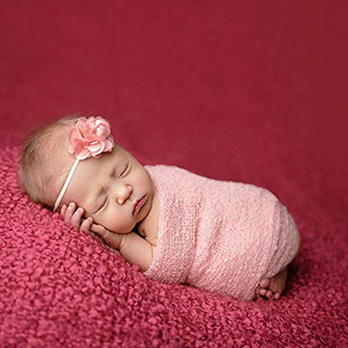 150cm huiwuke Newborn Photography Props Blanket Rayon Stretch Knit Wraps 40