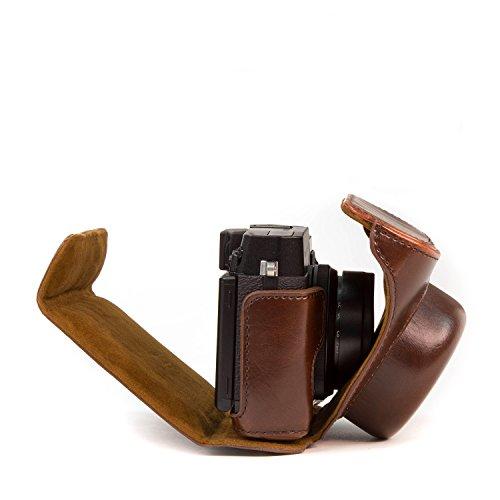 MegaGear Ever Ready Protective Leather Camera Case, Bag for Fujifilm X30 12 MP Digital Camera (Dark Brown)