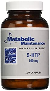 Metabolic Maintenance - 5-HTP - 100 mg, + P-5-P for Mood Support, 120 Capsules