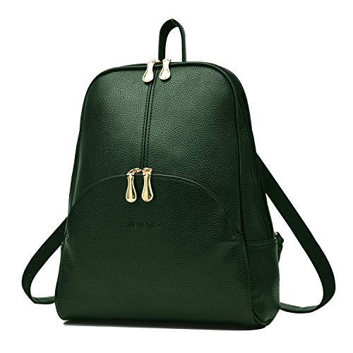 Nevenka Brand Women Bags Backpack Purse PU Leather Zipper Bags Casual Backpacks Shoulder Bags (Shaded Spruce)