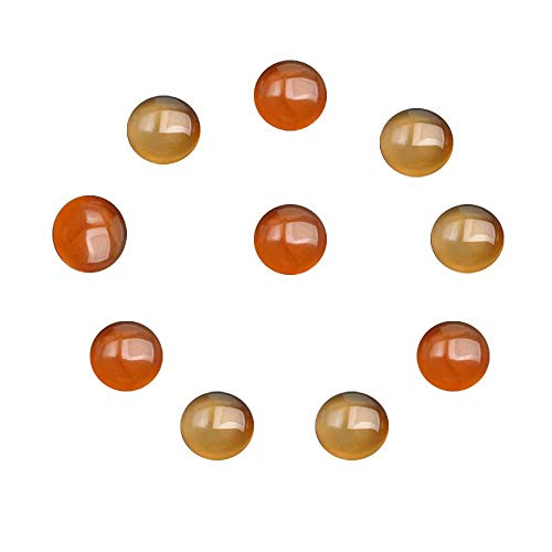 e Red Agate Gemstone Round 16mm Cabochons Flat Back Cabs for DIY Fashion Women Jewelry Gift Beading(No Hole) ()