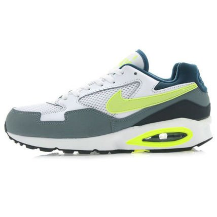 NIKE Air Max ST MEN'S RUNNING SHOES 652976 102 white/ grey/ volt