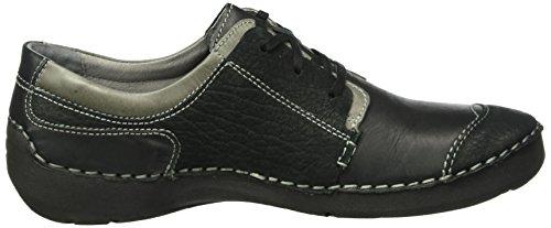Josef Seibel Fergey 06, Zapatos de Cordones Derby para Mujer Negro - Schwarz (schwarz/ash 965)