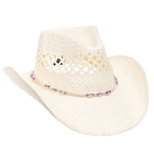 MG Womens Straw Outback Toyo Cowboy Hat - Natural by MG