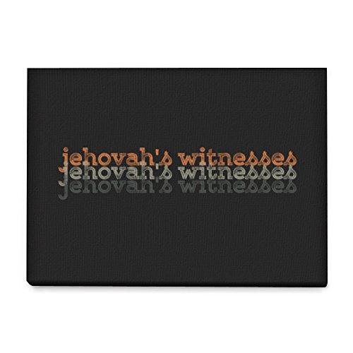 Idakoos - Jehovah's Witnesses repeat retro - Religions - Canvas Wall