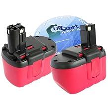 2-Pack Bosch 24V Battery Replacement - Compatible with Bosch BAT030, 11524, 1645, GBH-24V, GBH24V, 3924-24, 52324, 13624, 12524, 1660, PSB24VE-2, BAT240, BAT031, 2 607 335 280, 2607335561, 2607335537, 2607335445, 2607335280 (1300mAh, NICD)