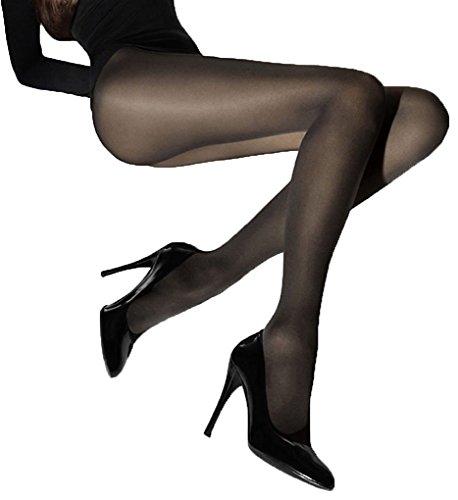 Wolford Women's Velvet De Luxe 50 Tights, Black, Medium (Cotton Velvet Tights)