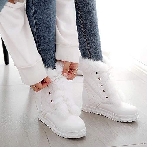 Snow Sweet Womens Boots White Heel Hidden Carolbar ZIqwP