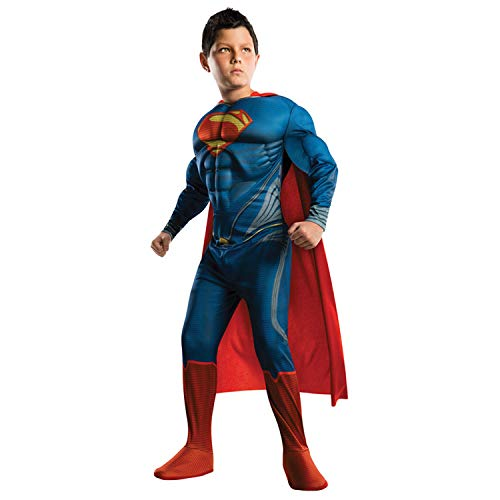 Superman Costume For Boys (Superman Child's Costume Muscle Edition,)