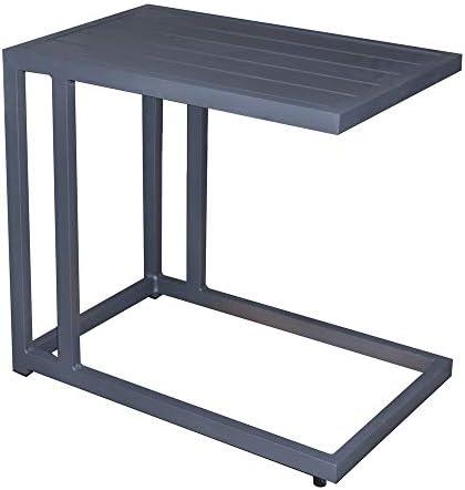 Mesa Auxiliar de sofá para Exterior de Aluminio Negra, de 60x35x57 ...