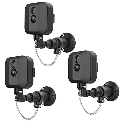 HOLACA Security Outdoor Mount for Blink XT Outdoor Camera with Anti-Theft Chain & Metal Wall Mount Bracket-Extra Protection for Your Blink Home Security (3 Pack)