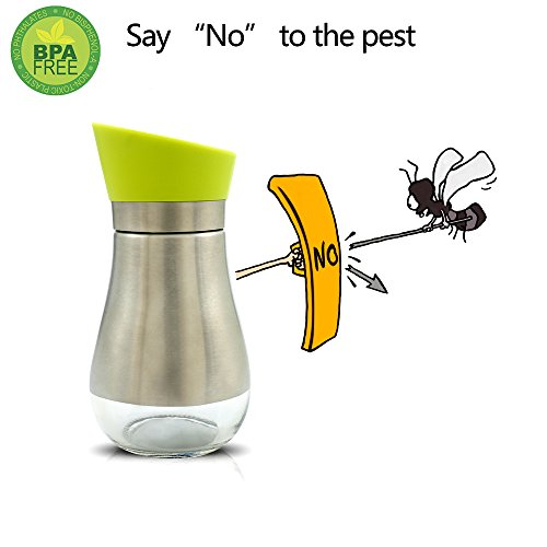 June Sky Oil Dispenser Olive Bottle- Spice / Sugar / Salt / Pepper Shakers Glass Bottom With Rotating Cover- Made of Food Grade Material (1 large Oil Dispenser)