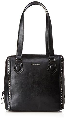 Tamaris Precious Shoulder Bag, Shoppers y bolsos de hombro Mujer, Schwarz (Black), 24x12x27 cm (B x H T)