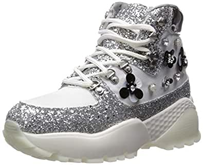 Betsey Johnson Womens ABEL01S5 ABEL Silver Size: 6