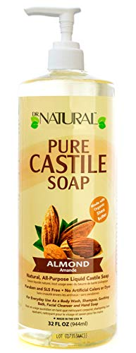 Dr. Natural Pure-castile Liquid Soap, Almond, 32 - Pump Natural & Pure Soap