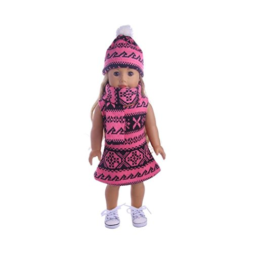 American Girl Doll Clothes, 3-Piece Doll Outfit For American Girl Doll and Other 18-Inch Barbie Doll Clothes (Different Types Of Barbie Costumes)