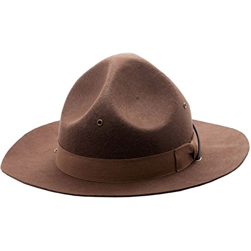 Wool Drill Sergeant Mountie Police Hat Costume Ranger, Sm/Med
